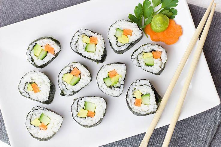 comida sana sushi